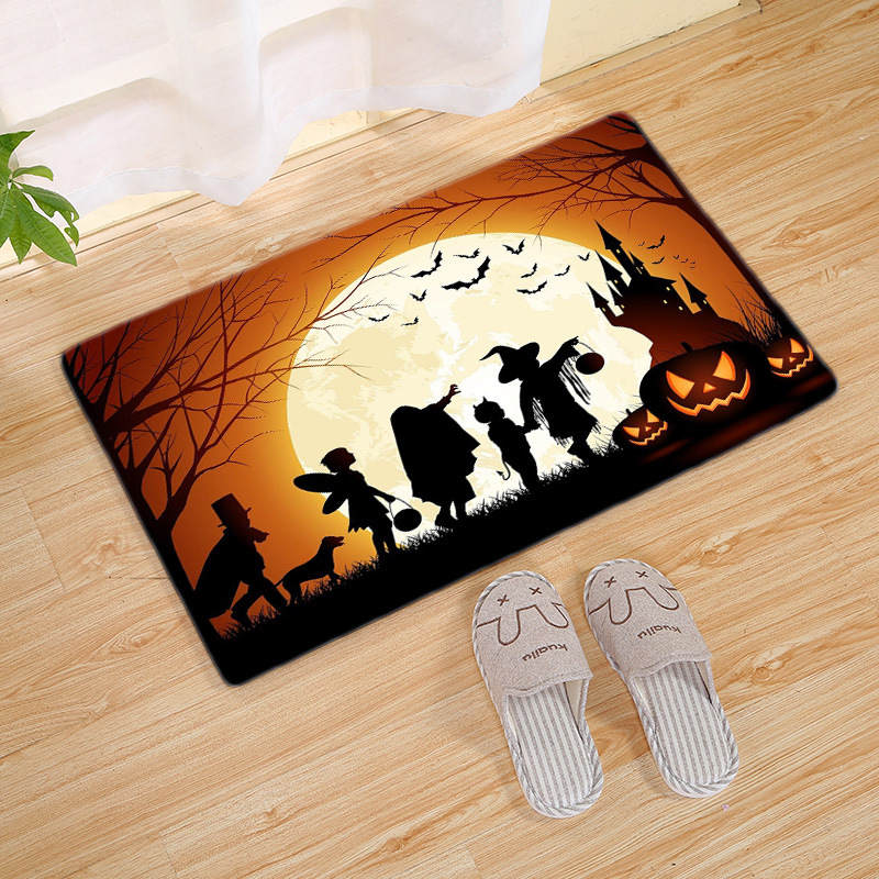 Halloween Series Crocodile Round Bathroom Carpets Living Room Doormat Kid Room Rugs Door Floor Chair Mat For Bedroom