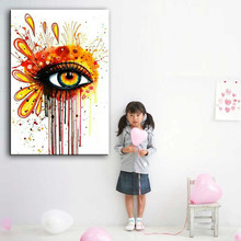 oil painting hand-painted canvas Eyes close-up picture high quality Household adornment art Eyes abstract painting 168017(China)