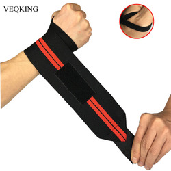 2 pieces Adjustable Wristband Elastic Wrist Wraps Bandages for Weightlifting Powerlifting Breathable Wrist Support 3colors