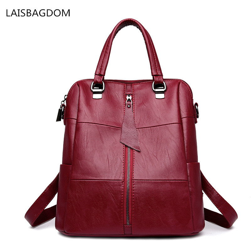 2018 New Arrival Women Backpack Leather School Bags for Teenagers Girls Fashion Female Travel Backpacks Rucksack Mochilas dida bear brand women pu leather backpacks female school bags for girls teenagers small backpack rucksack mochilas sac a dos