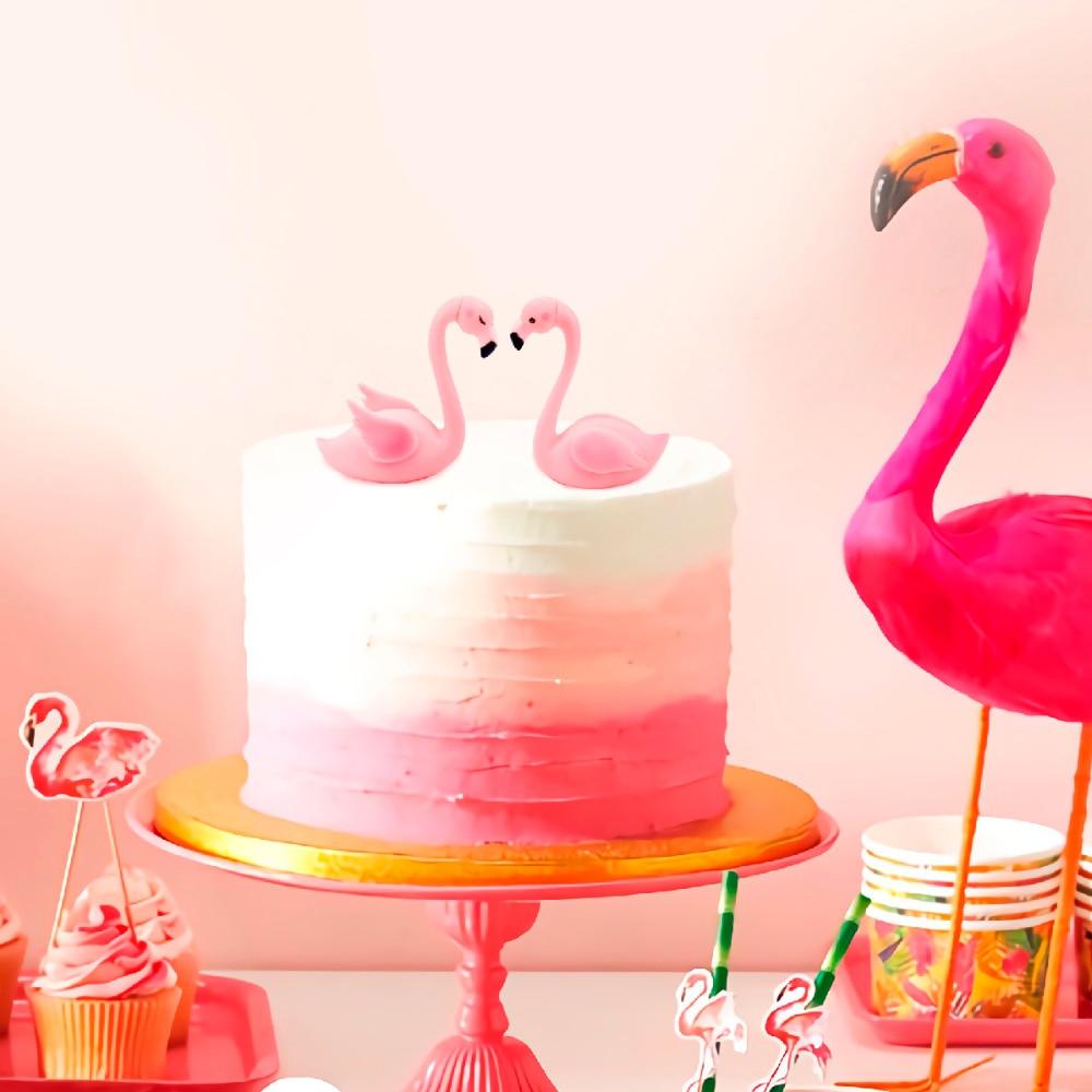 QIFY Wedding Flamingo Cake Topper Pink Flamingo Party Decor Home ...