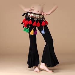 Дети танец живота Американский Племенной Стиль обувь для девочек одежда Flared Брюки Штаны для занятий йогой дети брюки