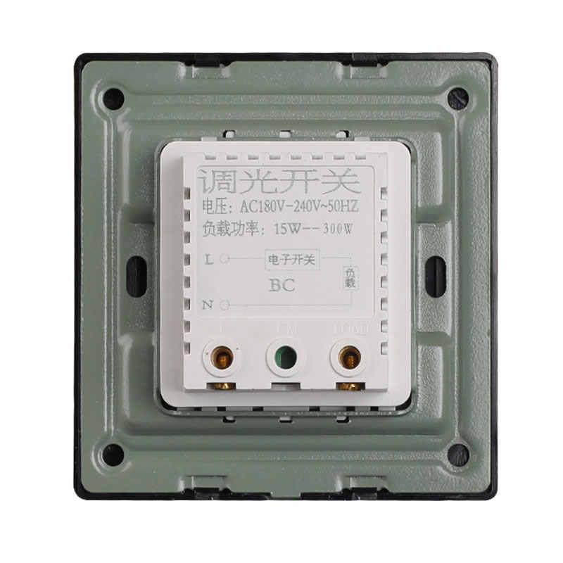 86 Тип Черный диммер панель настенный 220 В 450 Вт бесступенчатый переключатель диммер лампы накаливания