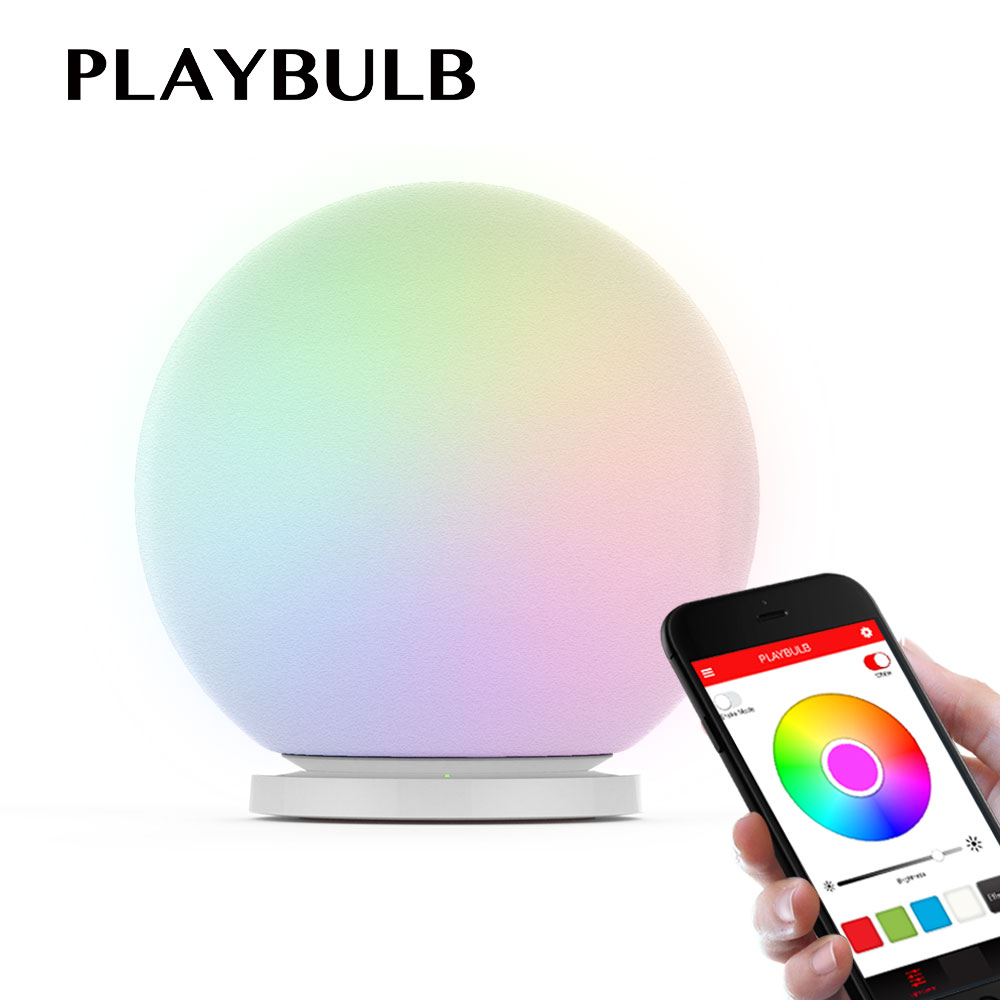 MIPOW PLAYBULB Sphere Smart Color Changing Waterproof Dimmable LED Glass Orb Light Floor Lamp Night Lights Tap to Change Color mipow playbulb sphere bluetooth intelligent led light with app control