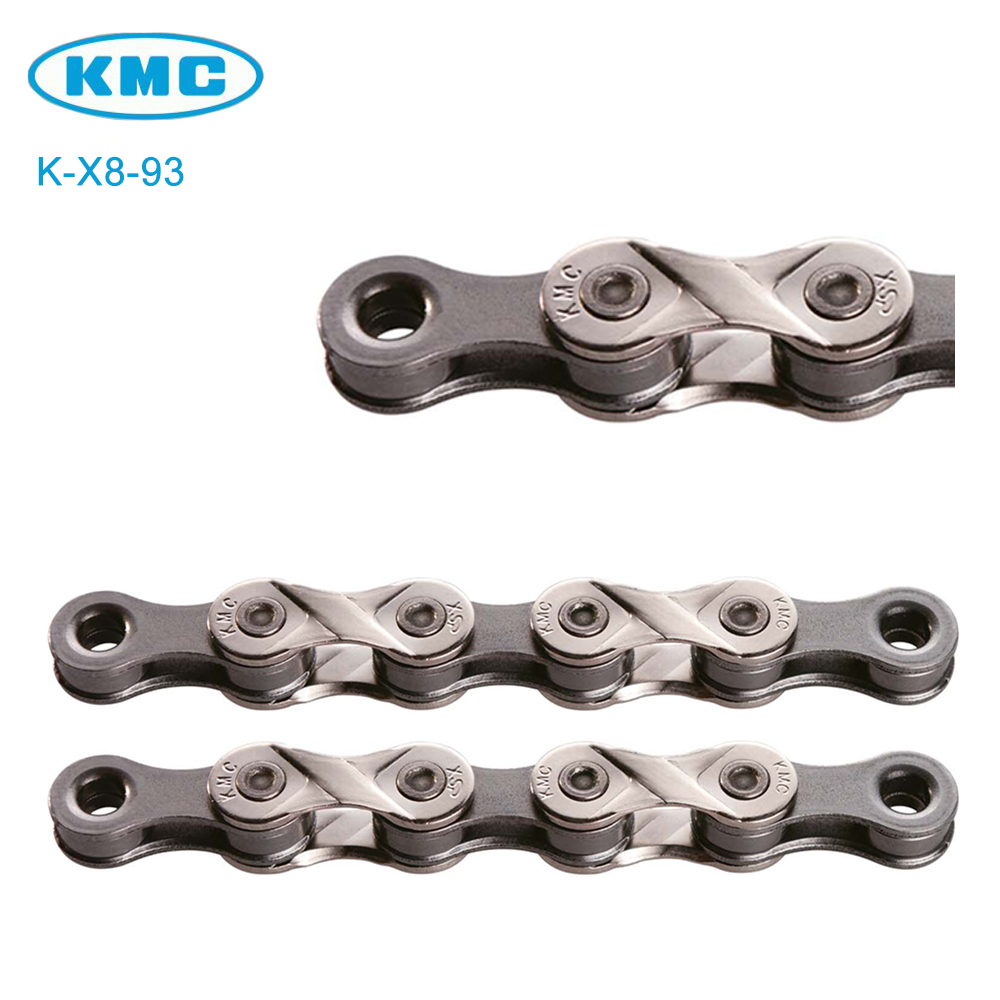 KMC X8.93 8 Speed Bike Chain Trekking Half Nickel Plated Extremely Durable 116L