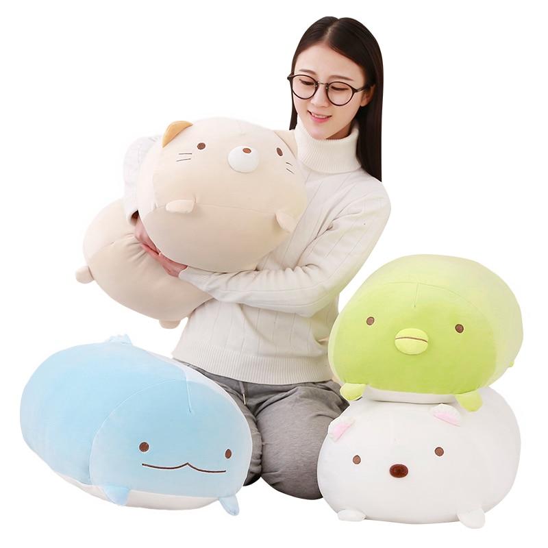 1 stück 60 cm San-X Ecke Bio Kissen Japanese Animation Sumikko Gurashi Plüsch Spielzeug unten baumwolle Cartoon Kinder mädchen Valentinstag Geschenk