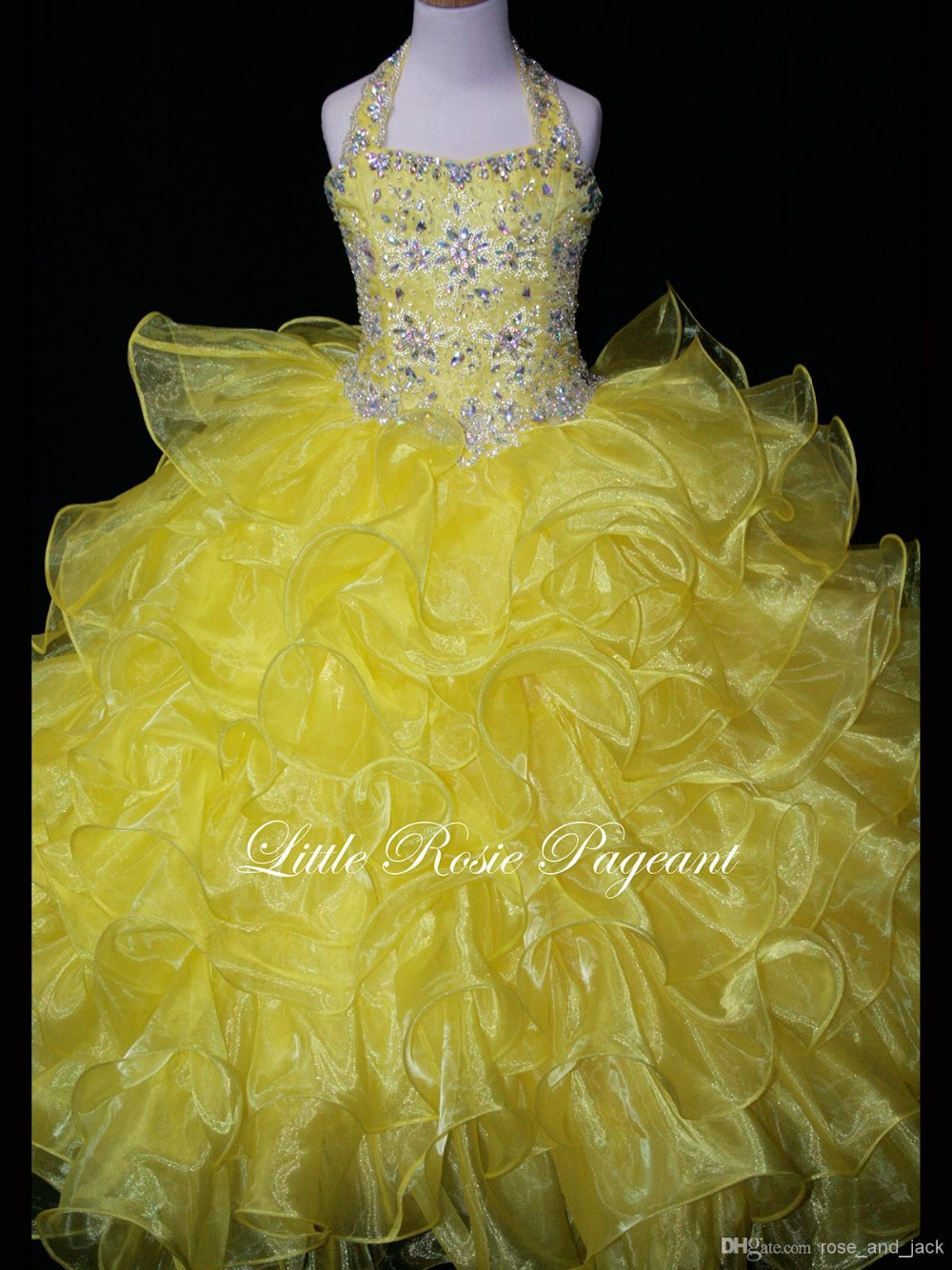 Bright Yellow Flower Girl Dresses Style Yellow Dress