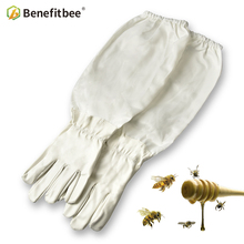 Benefitbee 1 пара пчеловод предотвращает перчатки защитные рукава тонкий мягкий из искусственной кожи анти пчеловодство оборудование для пчеловодства