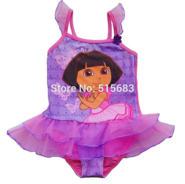 9abf3314c152a Retail Hot sale-Freeshipping-Girls Fairy Princess Swimwear Dora Tankini  Beachwear Bikini Swimsuit Tutu Dress 2-8Y Bathing