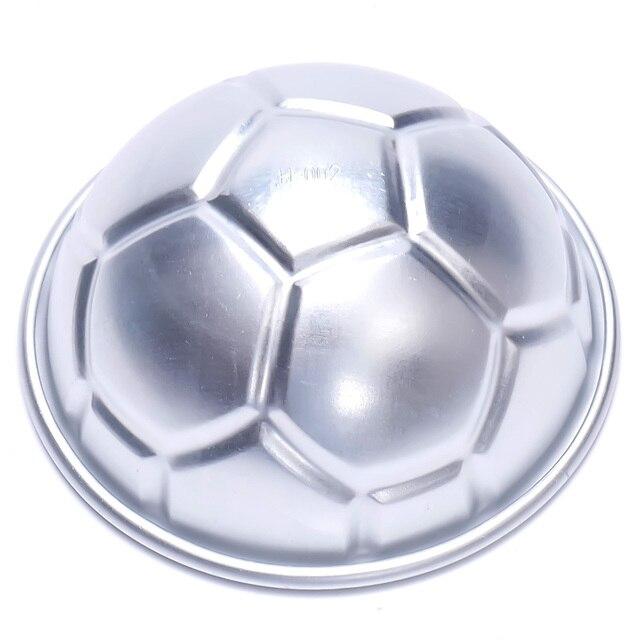 2 Pcs Molde Do Bolo Bola Bola de Futebol Metade Rodada Estanho Pan molde de  Cozimento ca238a2b75344
