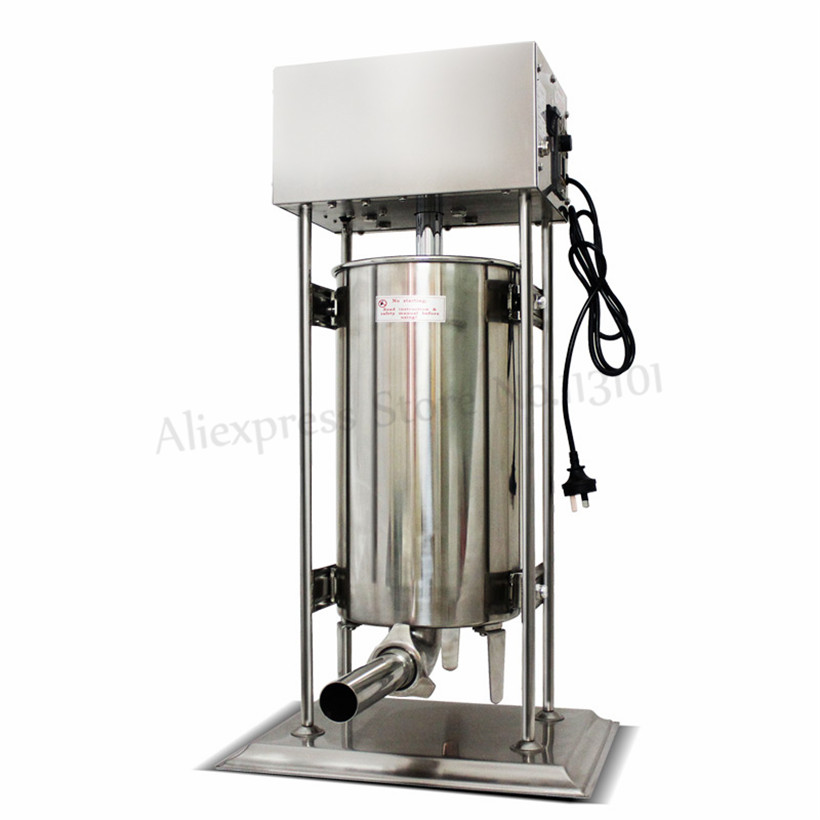 25Liters Heavy Duty Electric Automatic Sausage Meat Filler Stainless Steel Sausage Stuffer Meat Processing Extruder 220V/110V