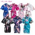 2016 Novo Garoto Casamento Robe de Cetim Prom Crianças Vestido Da Menina de Flor Roupas de Festa Criança Pijamas Roupas de Banho Roupão Quimono