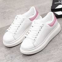 QWEDF 2019 Spring New Designer Wedges White Shoes Female Platform Sneakers Women Tenis Feminino Casual Female Shoes Woman AC 59