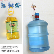 Strong adhesive hook non-trace nail-free door load-bearing kitchen bathroom transparent patterns 20KG weight wall hanger