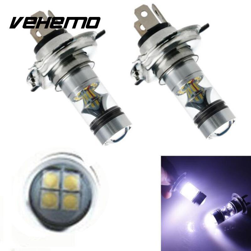 1Pcs H4 100W 20LED 1000LM Fog Lamp Car LED Stop Brake Bulbs Lamp High Power