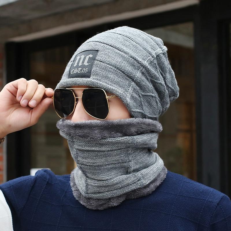 Neck Warmer Inverno Cappello sciarpa maschera Lavorato A Maglia Skullies berretti di Lana Protezioni calde Maglia berretti Cappello di inverno degli uomini del ragazzo Sciarpa cap balaclava