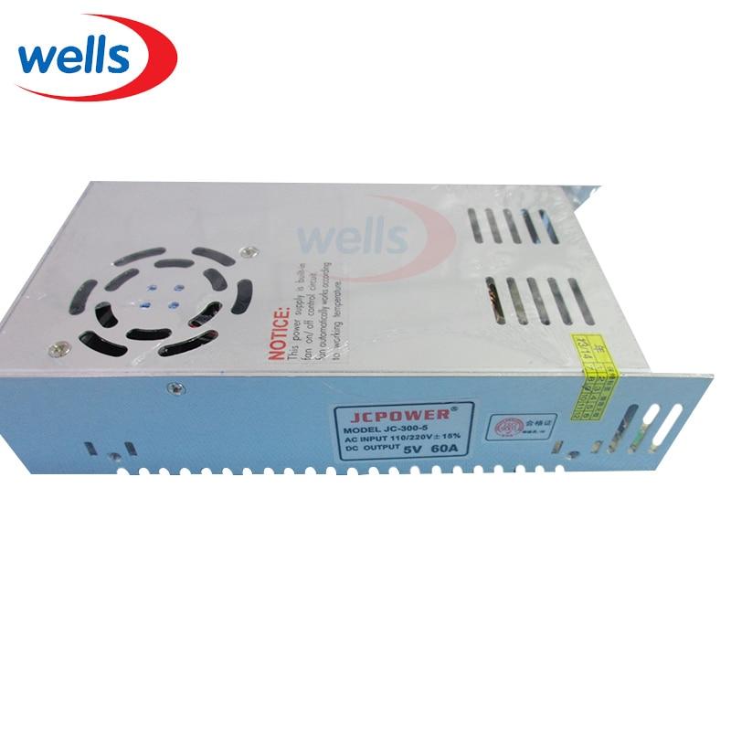 5V 60A 300W AC 220v na DC5V Spínané napájecí transformátory osvětlení pro 2812 6812 APA102 WS2811 WS2801 LPD8806 5V DC Strip