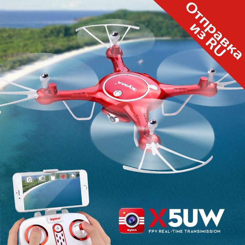 SYMA X5UW Drone con cámara WiFi HD 720 p transmisión en tiempo Real de FPV Quadcopter 2,4g 4CH RC helicóptero drone con giroscopio de Drones