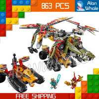863pcs Bela New 10358 King Crominus Rescue Golden lion Building Blocks Sets Kits amazing Movie Toys Bricks Compatible with Lego