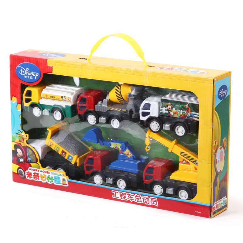 Disney authorized merchandise Mickey Toy Construction Vehicles mobilize gifts for children