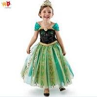 AD Dondurulmuş Prenses Elsa Kız Elbise Doğum Günü Partisi Performans Kostüm Çocuklar Elbiseler Çocuk giyim