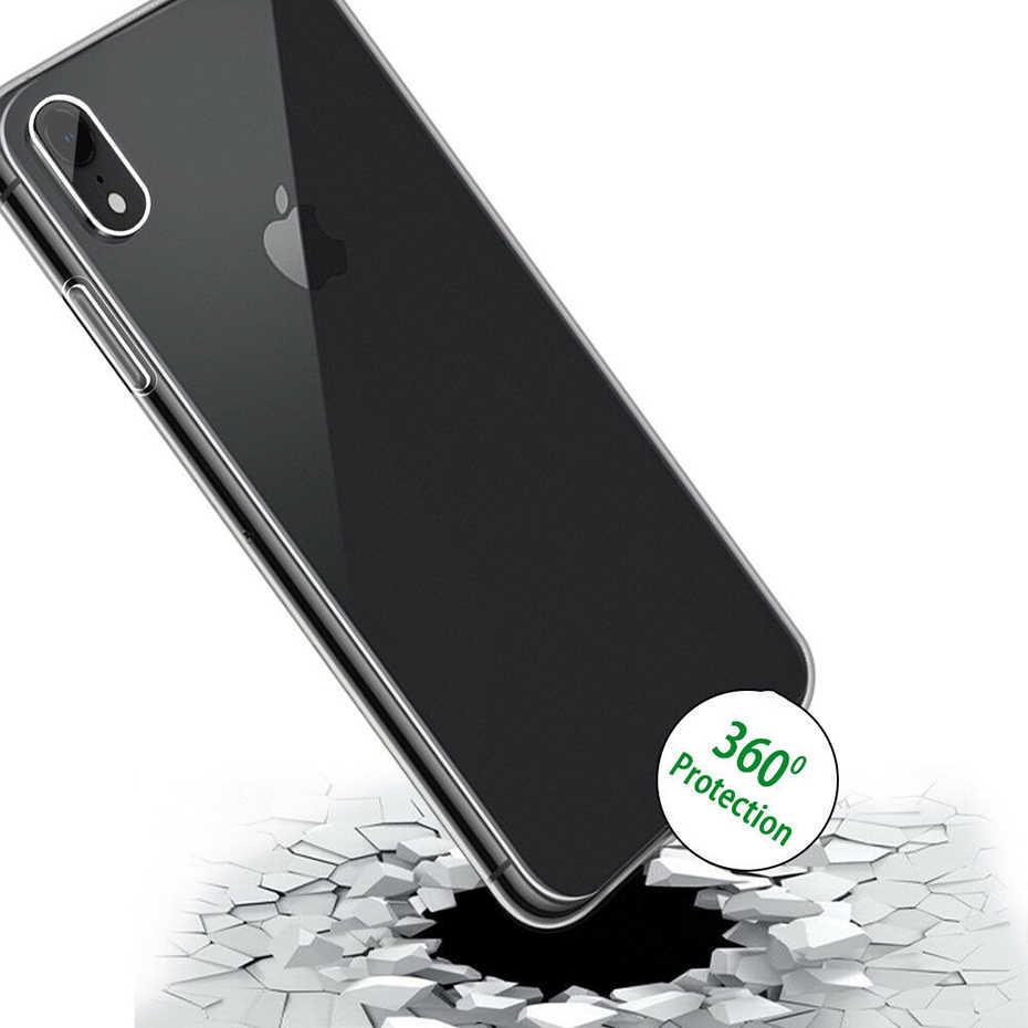 高級 360 耐衝撃シリコンフルカバー iphone 7 × XR 透明 Tpu の Pc ケース iPhone 6 6 s 8 プラス XS 最大電話ケース