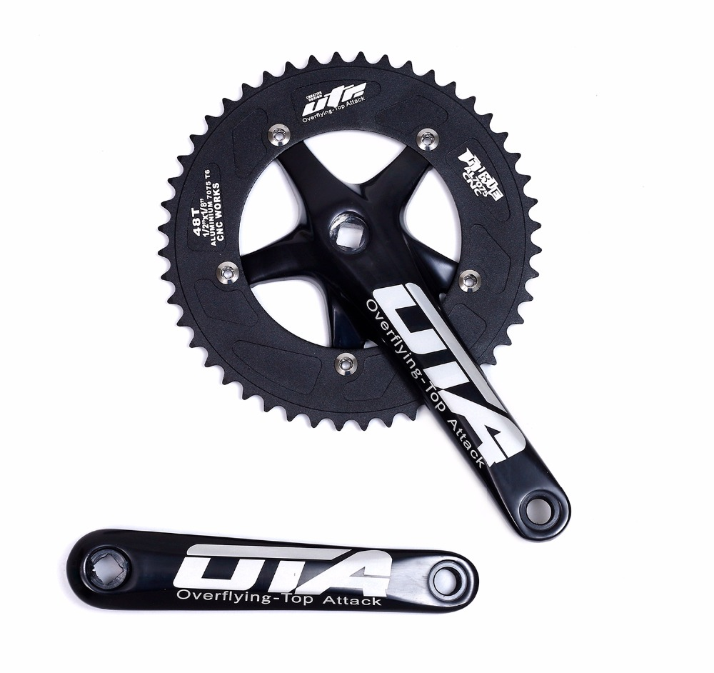 48T Racing OTA Crankset Aluminum Single Speed Track Bicycle bicicleta mountain bike Fixed Gear bike Chainwheel cranks48T Racing OTA Crankset Aluminum Single Speed Track Bicycle bicicleta mountain bike Fixed Gear bike Chainwheel cranks