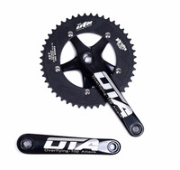 48T Racing OTA Crankset Aluminum Single Speed Track Bicycle bicicleta mountain bike Fixed Gear bike Chainwheel cranks