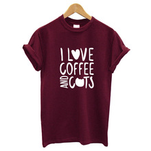 I Love Coffee and Cats T-Shirt