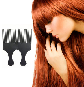 Image 2 - Belleza chica profesional nuevo Afro peine para pelo Afro rizado cepillos para el pelo salón peluquería estilismo diente largo estilismo elegir Envío Directo 3A25