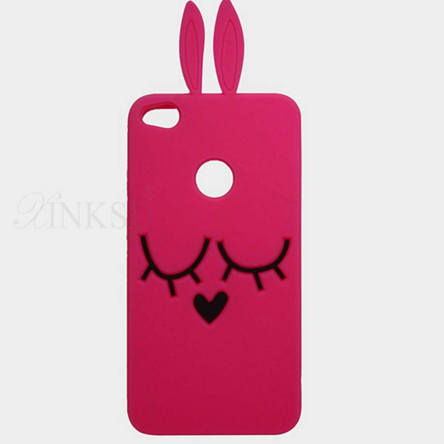 Soft Silicone Phone Case for Huawei P8 P9 lite 2017 3D Cartoon tiger Minnie cat Mouse bow-knot Rubber Cover Protective shell