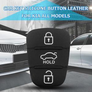 Image 4 - Nova substituição almofada de borracha 3 botões flip carro remoto chave do escudo para hyundai i30 ix35 kia k2 k5 caso capa