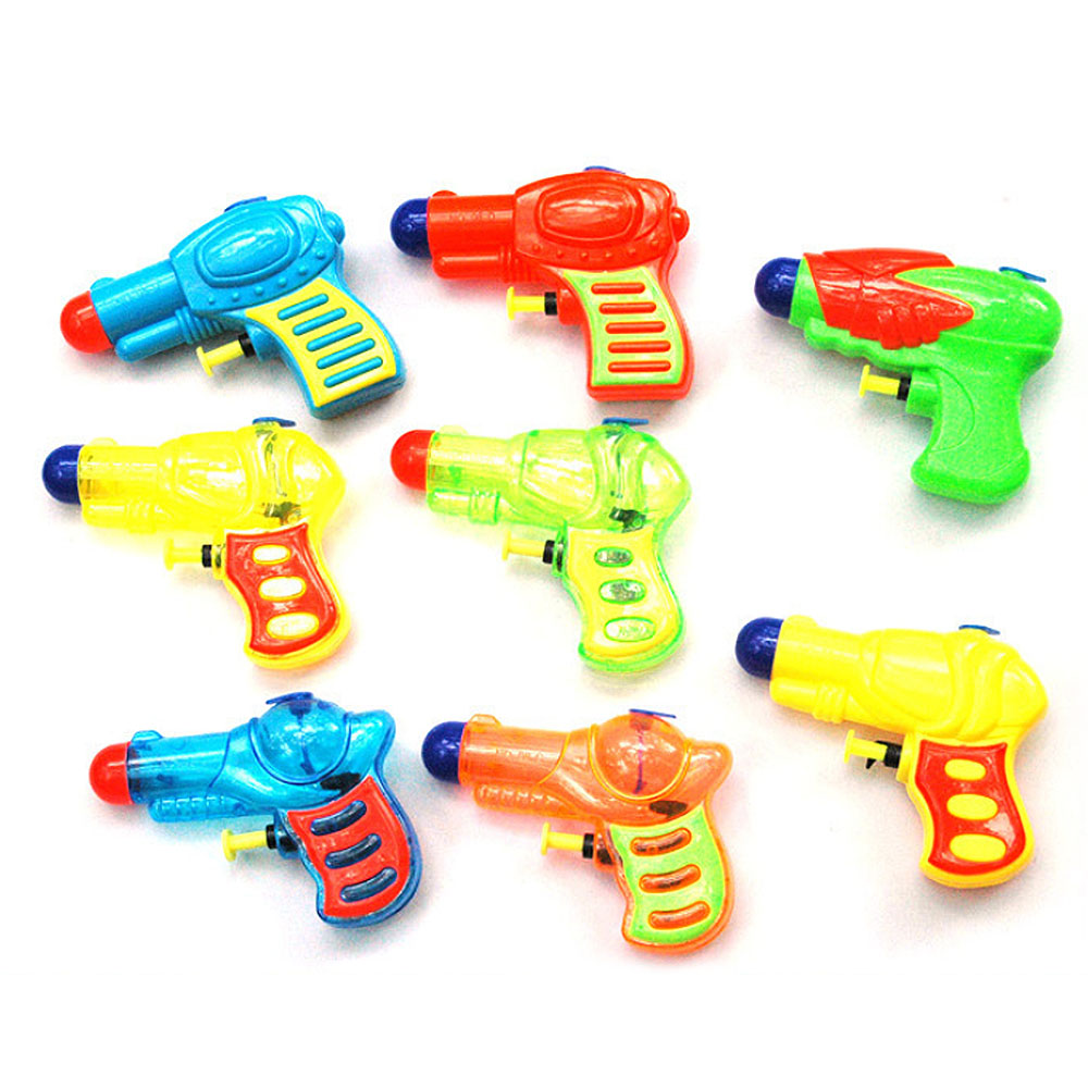 Mini Water Gun Summer Kid Baby Beach Toy Party Garden Bath Toys Swimming Drifting Transparant Squirt Gun,Random Color Select