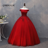 Hot Sale Red Quinceanera Dresses 2018 Lace Appliques Beaded Ball Gown Long Prom Gown Sweet 16 Dress For 15 Years Plus Size