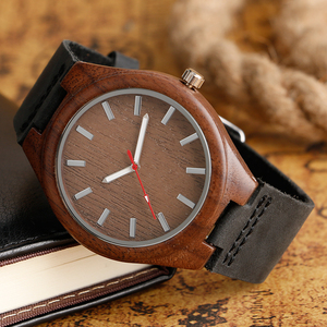 Image 3 - Mens Analog Nature Wood Quartz Fashion Women Sport Watches Genuine Leather Band Bamboo Casual Wristwatch Relojes Montres