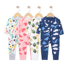 Infant Jumpsuit Long Sleeves Floral Romper Baby Boy Girl Clothes Tiny Cottons New Born Toddler Onesie Overall Outfit Pajamas