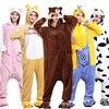 Animal Onesie Kigurumi Costume High Quality Pajama Women Men Adult Sleep Overalls Unicorn Bear Carnival Party