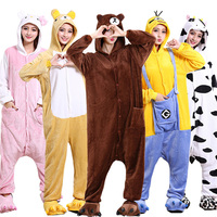 Animal Onesie Kigurumi Costume High Quality Pajama Women Men Adult Sleep Overalls Unicorn Bear Carnival Party