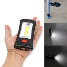 2016 New COB LED Flashlight 2-Mode Magnetic Working Folding Hook Light Lamp Torch Linternas Lanterna Lamp USE 3x AAA Battery