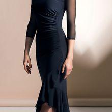Взрослое платье для латинских танцев для женщин, новинка, костюм самбы для латинских танцев, бальный костюм, платье для танго, танцевальная одежда для сальсы для женщин