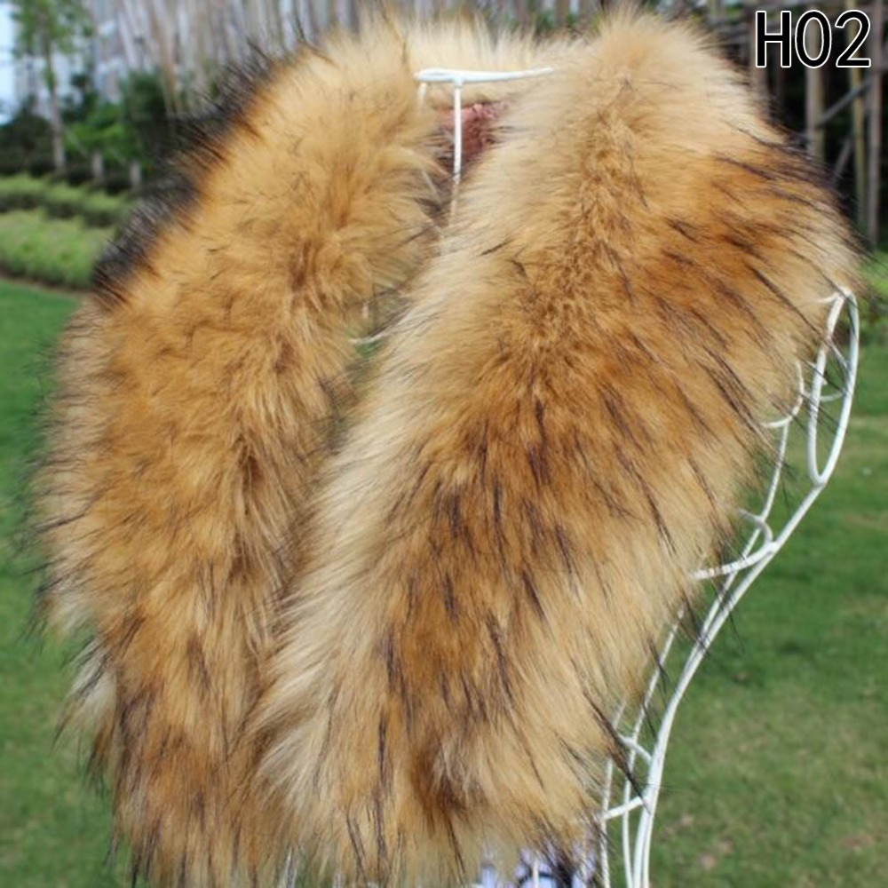 Imitation Fox Fur Collar Scarf Womens Shawl Wraps Shrug Neck Warmer Faux Fur Winter Women Solid Collar Scarf