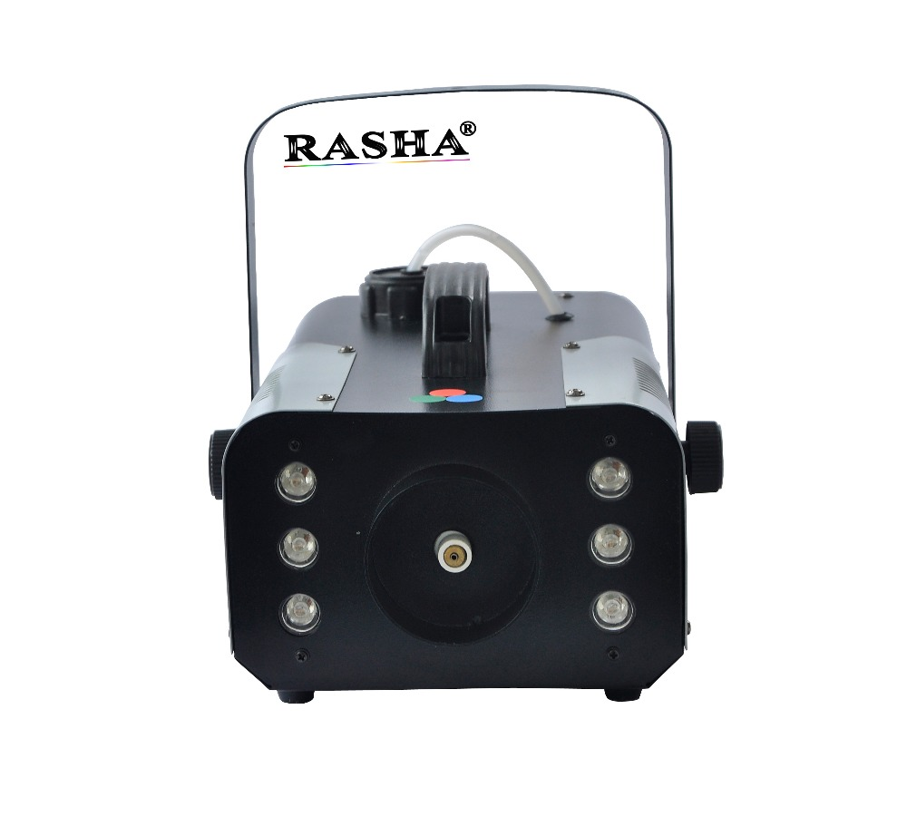 Rasha 6pcs*3W RGB 900W LED Fog Machine,LED Smoke Machine For Wedding Effects Event Party,DJ Club 600w snow machine flake spary snow machine for dj event wedding party stage equipment