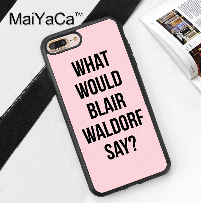 MaiYaCa Gossip Girl Blair Waldorf Printed Soft TPU Cover for Apple iPhone 8 7 Plus 6 6S Plus 5 5S SE X Hard Plastic Phone Cases