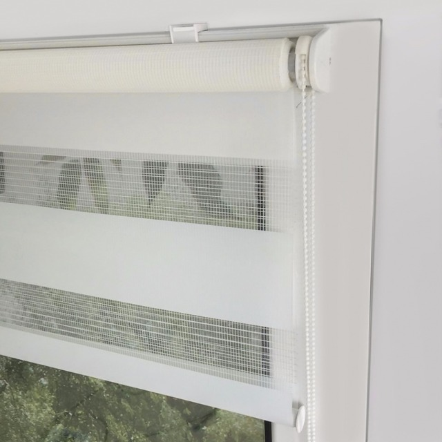 Awesome Standard Size Zebra Blinds No Drill Easy Install Double Layer Translucent  Roller Blinds Roller Curtains