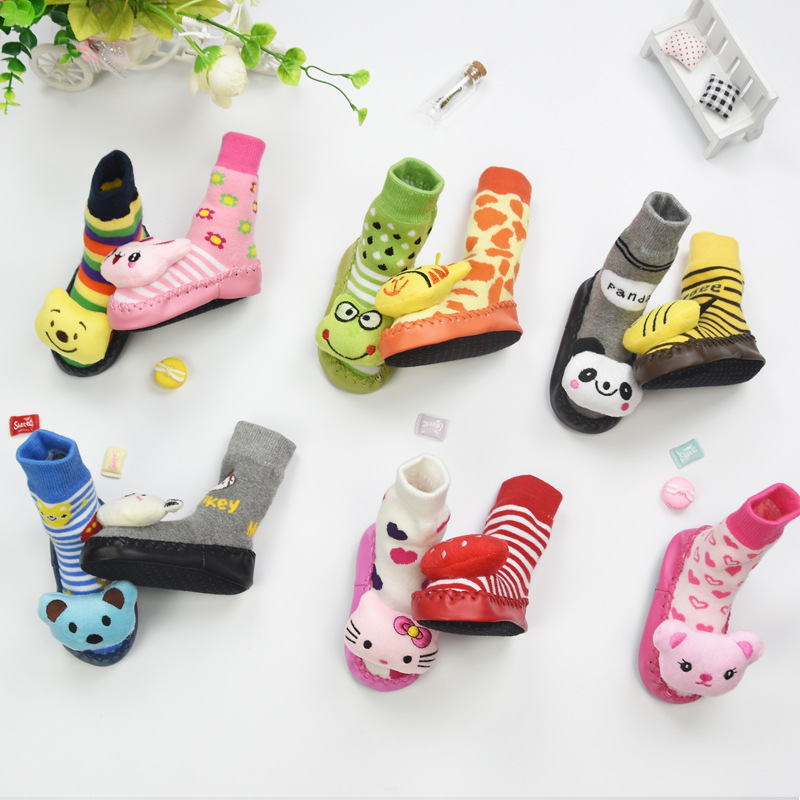 Hot Sale Baby Socks Winter Cotton Baby Socks With Rubber Soles Children Toddler Shoes Socks Newborn Non Slip DS9