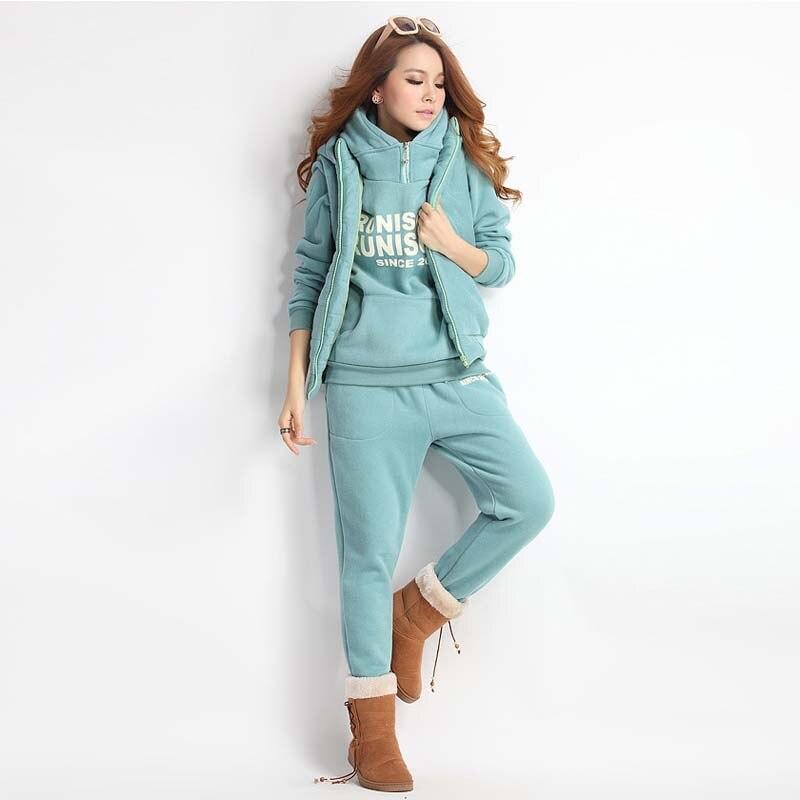 2018 Autumn Winter Letter NEW Fashion Women Suit Women s Tracksuits Casual  Set Hoodies Fleece Sweatshirt Three 8efe8c97ec46