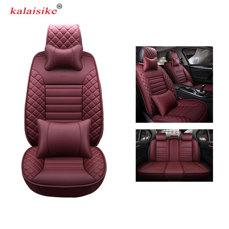 Kalaisike кожа универсальные чехлы сидений автомобиля для Isuzu все модели D MAX Му X 5 сидения авто аксессуары автомобили укладки