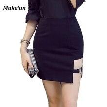 S 5XL Plus Size Black Pencil Skirt Summer 2020 Bodycon High Waist Skirts Women s Faldas