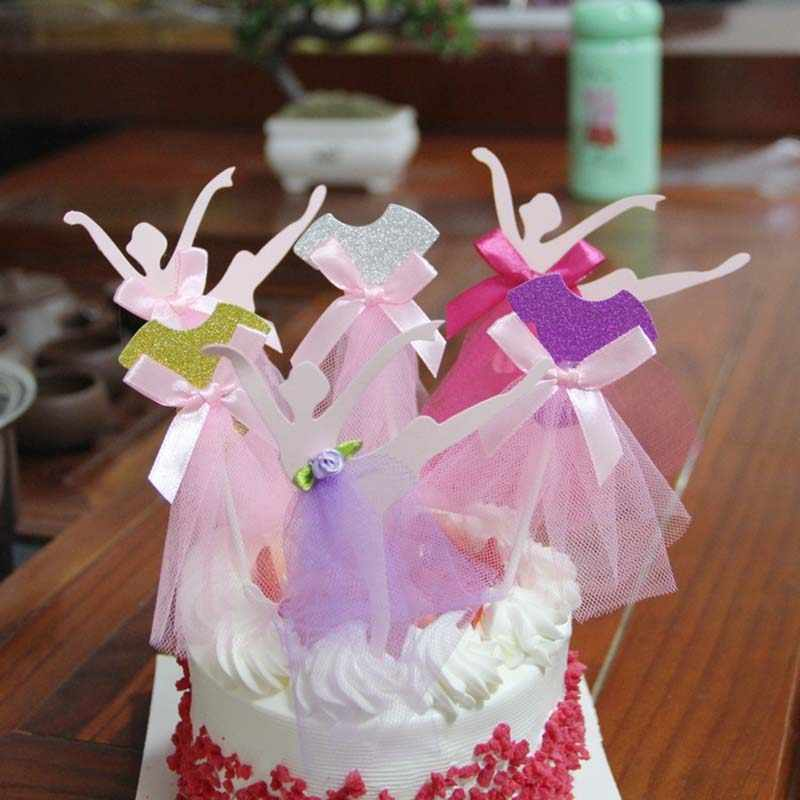 Brilliant Birthday Cake Small Card Princess Dancing Mini Paper Dress Home Funny Birthday Cards Online Barepcheapnameinfo