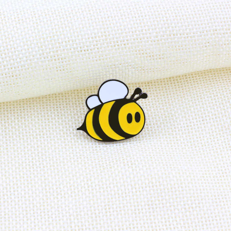 Милые эмалированные булавки для женщин брошка мультфильм пчелы джинсовые куртки украшения Дети Желтый Броши нагрудные значок на рюкзак ювелирны